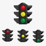 Vector de los semáforos Stock de ilustración