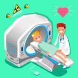 Vector de médico de hospital Cartoon Isometric People stock de ilustración