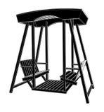 Vector de madera 01 de la silla del oscilación Foto de archivo libre de regalías