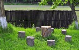 Vector de madera del silencio Foto de archivo