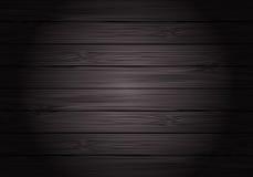 Vector de madera gris oscuro del fondo del vintage del modelo de la textura stock de ilustración