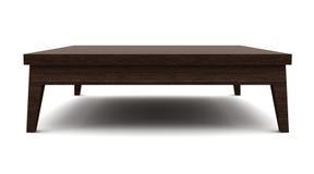 Vector de madera marrón moderno aislado en blanco Foto de archivo libre de regalías