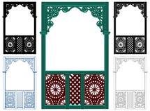 Vector de madera pintoresco del ejemplo del elemento del cenador Imagen de archivo