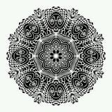 Vector de Mandala Round Zentangle Ornament Pattern Fotos de archivo libres de regalías