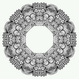 Vector de Mandala Round Zentangle Ornament Pattern Imagen de archivo libre de regalías