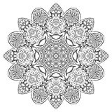 Vector de Mandala Round Zentangle Ornament Pattern Fotos de archivo libres de regalías