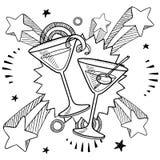Vector de martini de la pieza del coctel Foto de archivo libre de regalías