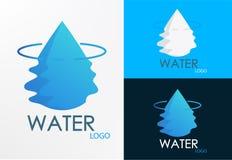 Vector de media-onda del diseño del agua del logotipo Foto de archivo