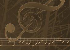Vector de muziekachtergrond van Editable Stock Fotografie