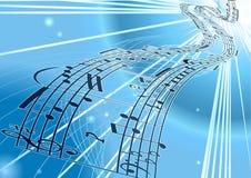 Vector de muziekachtergrond van het Blad Royalty-vrije Stock Afbeeldingen