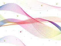 Vector de onda liso abstracto del color Ejemplo colorido del movimiento del flujo de la curva stock de ilustración