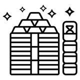 Vector de oro del icono ilustración del vector