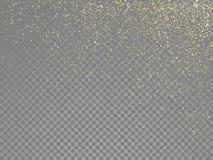 Vector de oro del polvo de estrella del oro del extracto del brillo ilustración del vector