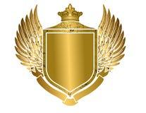 Vector de oro heráldico del escudo ilustración del vector