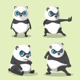 Vector de Panda Cute Character Collection Set Imagen de archivo libre de regalías