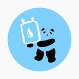 Vector de Panda Holding Blood Bag Icon ilustración del vector