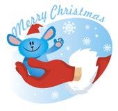 Vector de Papá Noel de la mano Imagen de archivo