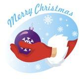 Vector de Papá Noel de la mano Foto de archivo libre de regalías