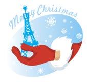 Vector de Papá Noel de la mano Fotografía de archivo libre de regalías