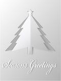 Vector de papel cortado árbol de navidad Imagen de archivo libre de regalías