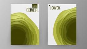 Vector de papel del diseño del folleto Espacio para el fondo de la foto Diseño moderno de folleto del negocio ilustration stock de ilustración