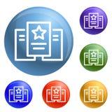 Vector de papel del sistema de los iconos de la estrella ilustración del vector