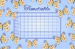 Vector de Parnassius de las mariposas del calendario Foto de archivo libre de regalías