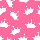 Vector de princesa Seamless Pattern Background Foto de archivo libre de regalías