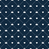 Vector de princesa Seamless Pattern Background Imagen de archivo
