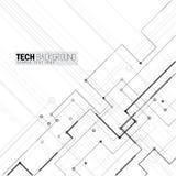 Vector de raadsachtergrond van de illustratie abstracte futuristische kring Stock Fotografie