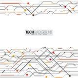 Vector de raadsachtergrond van de illustratie abstracte futuristische kring Stock Foto