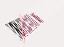 Vector. De rayo láser y código de barras