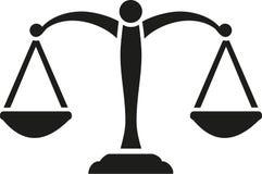 Vector de Scale de la justicia ilustración del vector