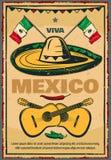 Vector de schets retro affiche van Cinco de Mayo Mexican