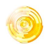 Vector de semitono abstracto del fondo del círculo libre illustration
