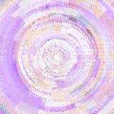 Vector de semitono abstracto del fondo del círculo stock de ilustración