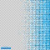 Vector de semitono del modelo azul los círculos a los cuadrados del fondo Imagen de archivo