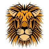 Vector de stijl zijvoorzijde van het leeuw hoofdgezicht Royalty-vrije Stock Afbeelding