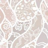 Vector de stoffen naadloos patroon van het kant Royalty-vrije Stock Afbeelding