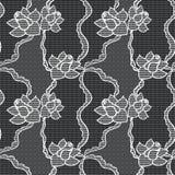 Vector de stoffen naadloos patroon van het kant Stock Fotografie