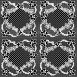 Vector de stoffen naadloos patroon van het kant Stock Afbeelding