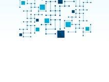 Vector de technologie medische achtergrond van het ontwerpnetwerk Stock Foto's