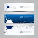 Vector de technologieachtergrond van de ontwerpbanner Royalty-vrije Stock Foto