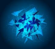 Vector de technologieachtergrond van het ontwerpnetwerk Stock Foto's
