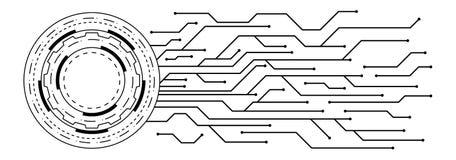 Vector de technologieachtergrond van de kringsraad royalty-vrije illustratie