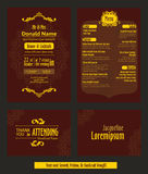 Vector de Uitnodigingsap Naadloos Patroon van de Dinerpartij Stock Fotografie
