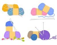 Vector de un hilado, materiales que hacen punto libre illustration