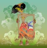 Vector de Wayang, carácter de Puntadewa de las modificaciones Imágenes de archivo libres de regalías