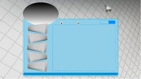 Vector de websitemalplaatje van het matrasontwerp, het online winkelen Stock Foto's