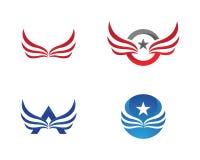 Vector de Wing Falcon Logo Template Imágenes de archivo libres de regalías